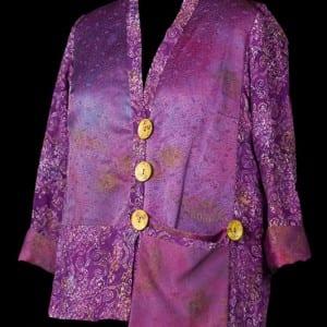 Purple Silk & Rayon Jacket
