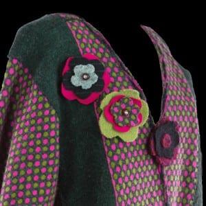 Edye's Felted Wool sweater jacket (back)