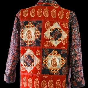 Handloom Batik Quilted Jacket (back)
