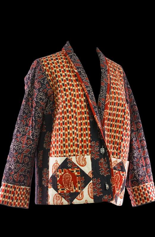 Handloom Batik Quilted Jacket