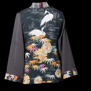 Cranes in Gray jacket - back