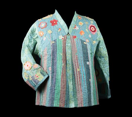 Front of reversible Flower Garden Jacket.