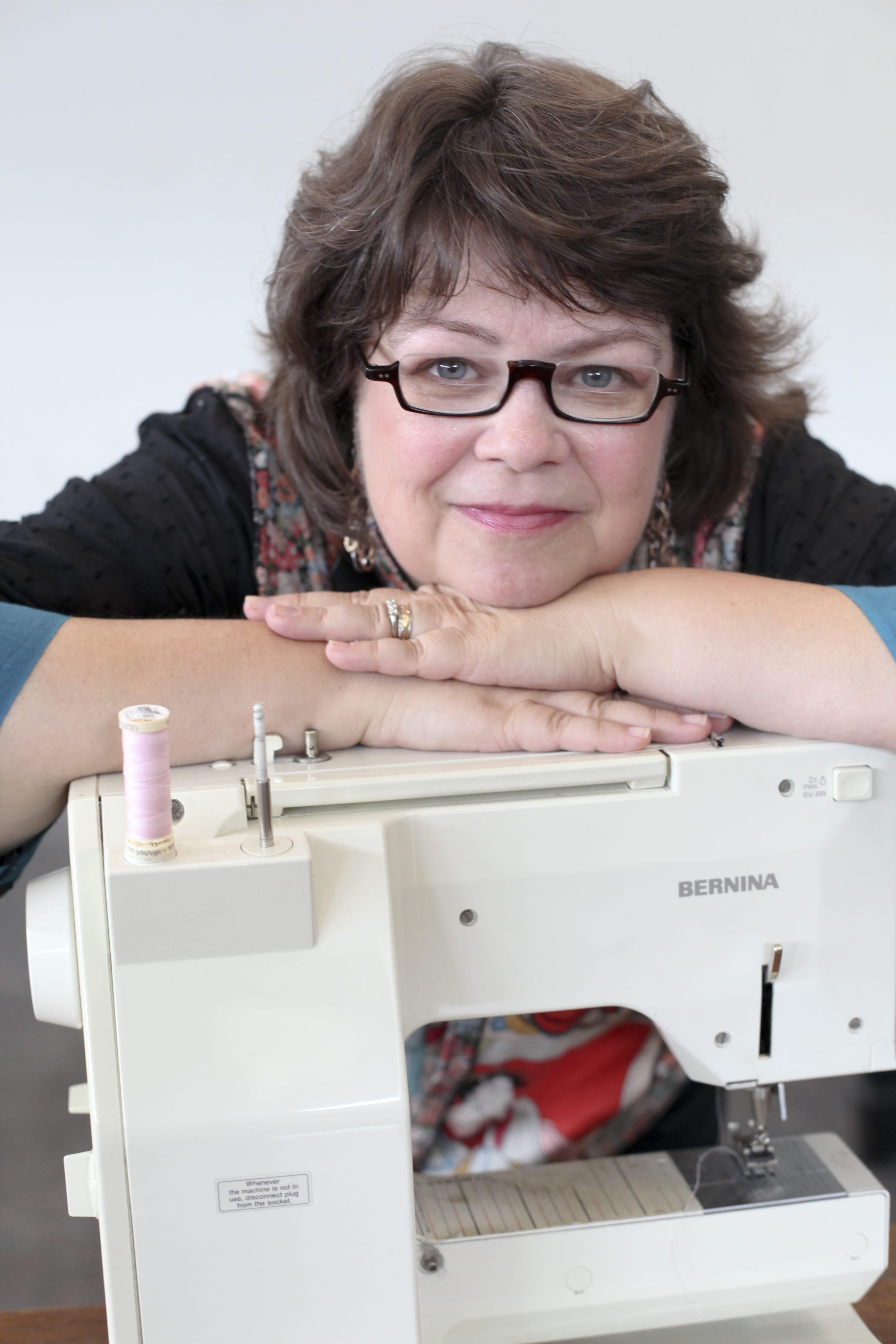 Rae - Hugging her sewing machine