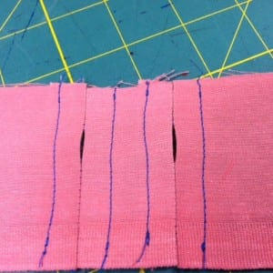 Creating the in-waistband buttonholes