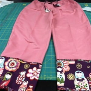 Finished pants, another view