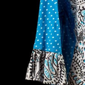 Scrolls & Dots - sleeve close-up