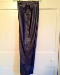Sneak preview of the finished faux leather pants.