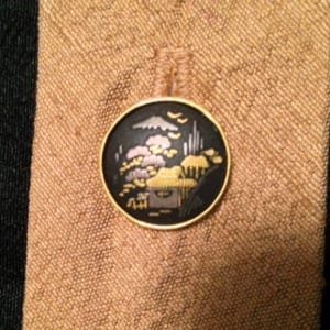Vintage Japanese button