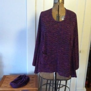 photo magenta top with scarf