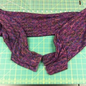 photo purple knit tube