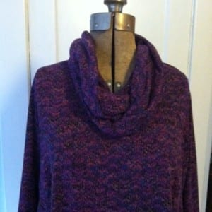 photo purple knit with scarf
