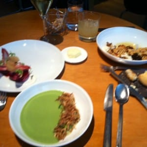 Ladies luncheon at the Modern.  Very lovely and delicious.