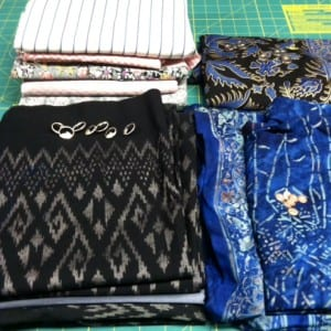Fabric and buttons