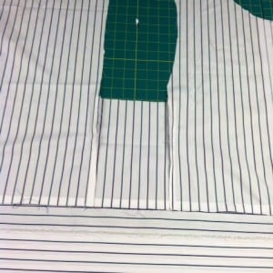 photo shirt partially constructed