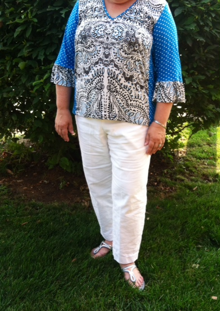My white Eureka! Pants and a Tabula Rasa Tee