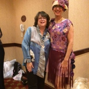 A big thank you to Sue for modeling the 42nd Street Dress.