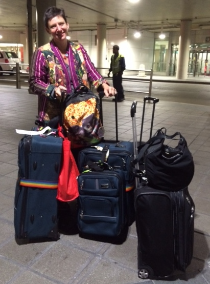 Look at all the luggage!