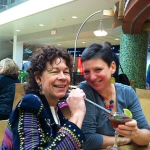 Robin and Edye enjoying a lovely martini
