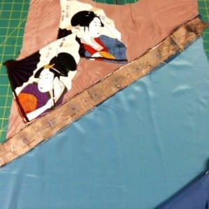 The pinned silk ikat strip,