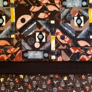 Geo with bird print and brown