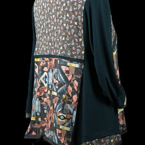 Back of the pieced tunic