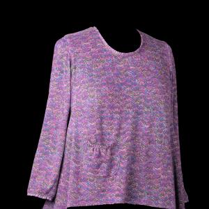 Magenta Sweater Knit Tunic