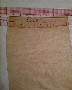 Drawing new cutting line on Front for Shaped waistband.