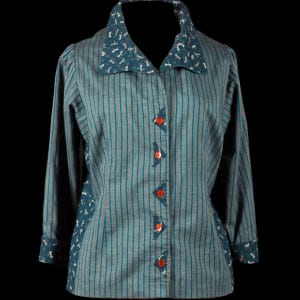 Tabula Rasa Shirt with couture darts and triangular button frames