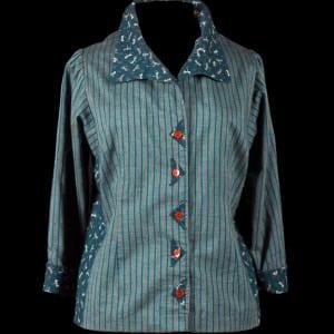 Tabula Rasa Shirt with couture darts and triangular button frames