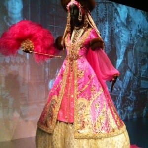 A ball gown for a famous costume ball.
