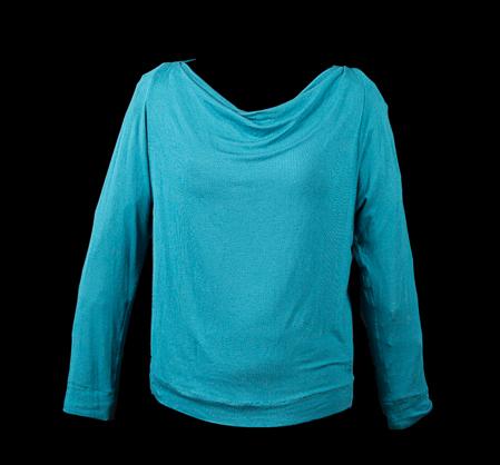 Turquoise Shallow Draped Neck