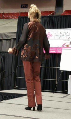 One more look at Rhonda in those great brown Eureka's and a different top.
