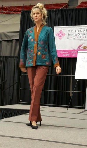 Rhonda, one of our favorite OSQE models in lovely Eureka! pants.