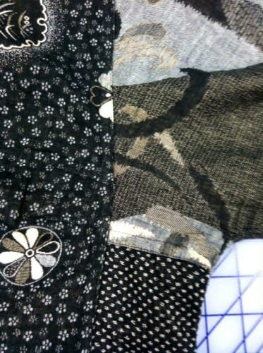 Look closely to see the topstitched french seams.