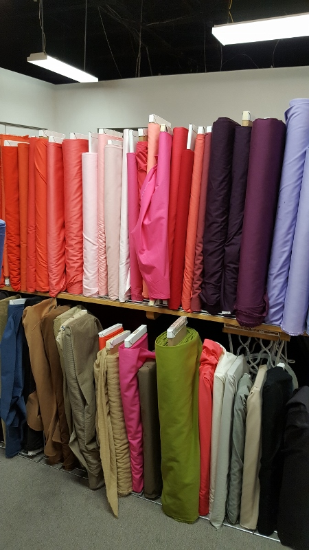 Sateen selection at A Fabric Place.