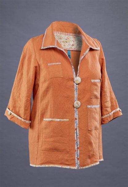Orange Linen Duster