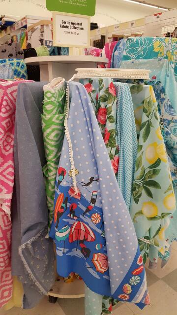 Fabric and trim at JoAnn's