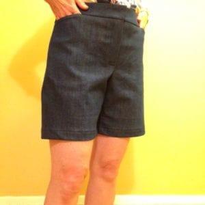 Denim shorts front finished