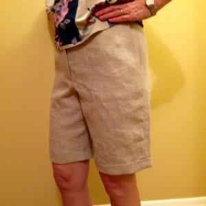 Linen shorts finished!