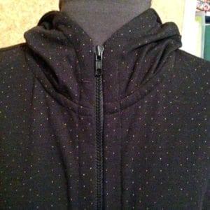 Black Hoodie zipped up