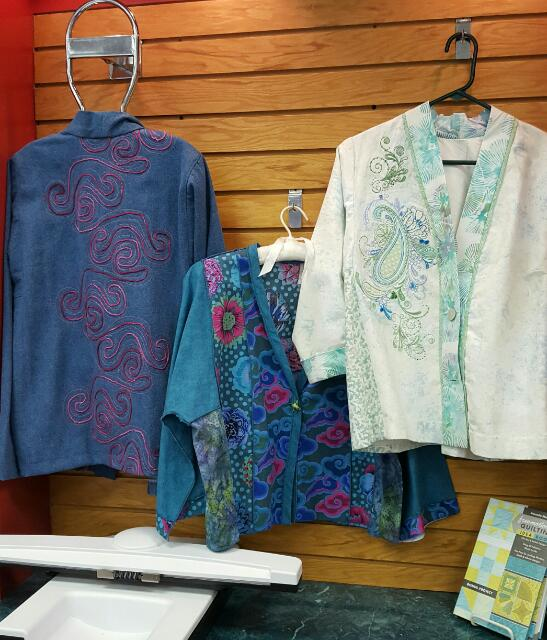 Here is Joy's jacket hanging with other Tabula Rasa Jackets at Lilies of the Field.