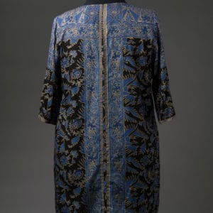 Batik swimsuit cover-up, back view