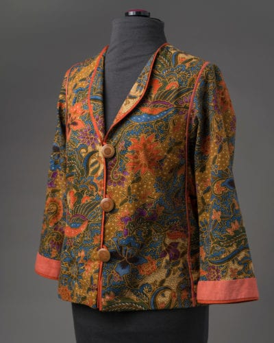Tropical Birds & Flowers Batik jacket, side view