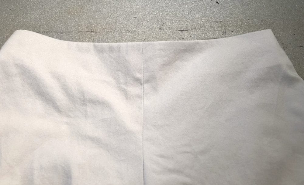 Front view of faced waist.
