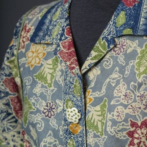 Collar and placket detail