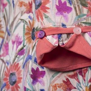 Peachy Bouquet - Cuff Detail