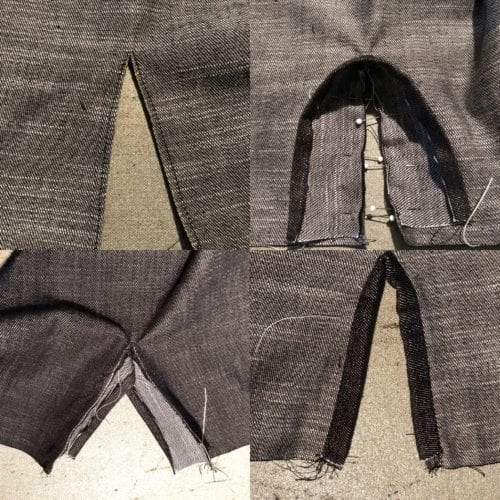 Creating a continuous bound placket.