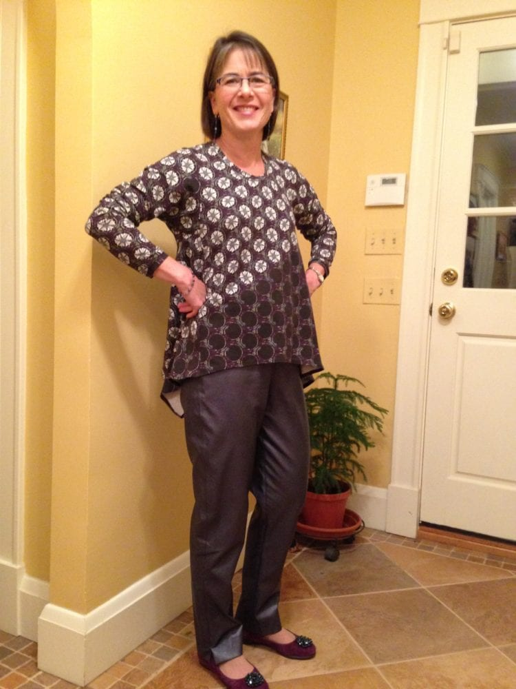 Leather Pants with Morning Glory Tunic