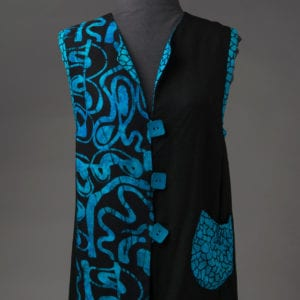 Sea Blue Batik Vest