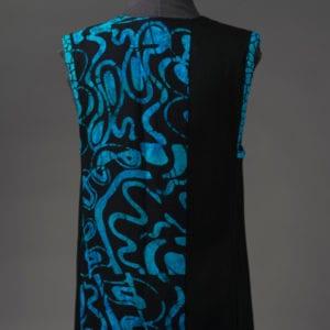 Sea Blue Batik Vest - back view